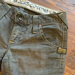 Used, G Star Raw grey corduroy pants, boot cut for sale